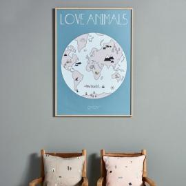 Lámina Love Animals