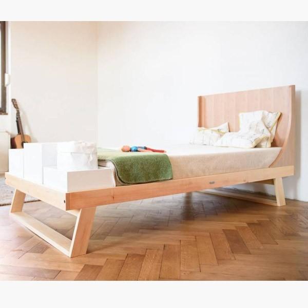 Cama nido 90 cm krethaus cama de estilo n rdico para ni os cama madera natural - Camas nido de 105 cm ...
