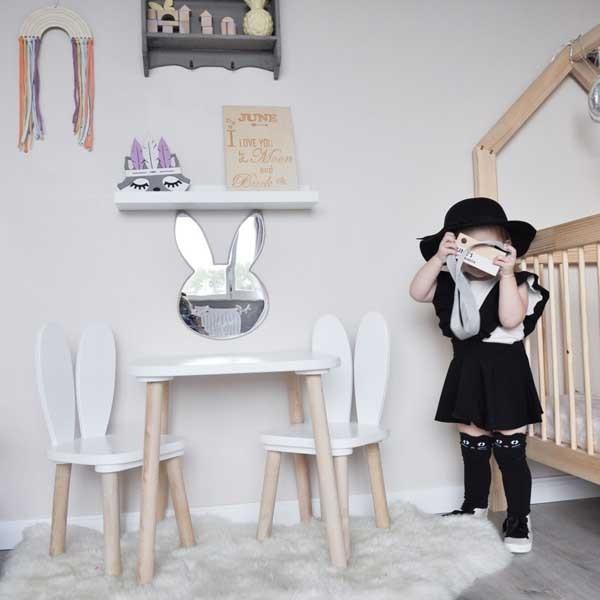Espejo infantil bunny conejito maseliving espejos for Espejos infantiles