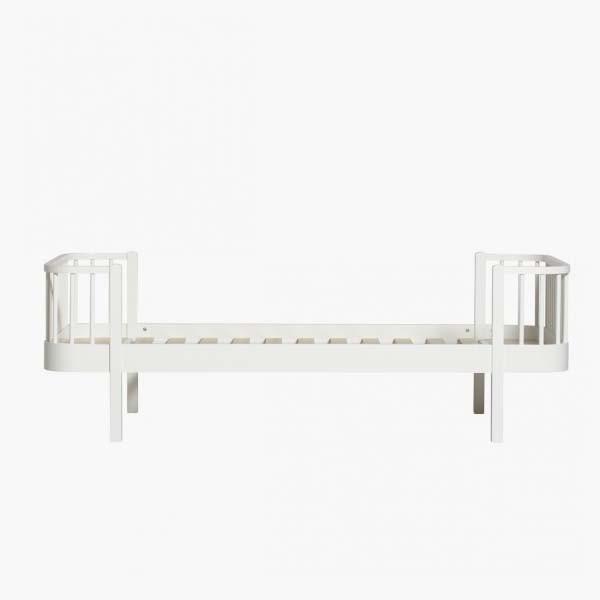 Cama nido 90 cm blanca oliver furniture for Cama individual blanca