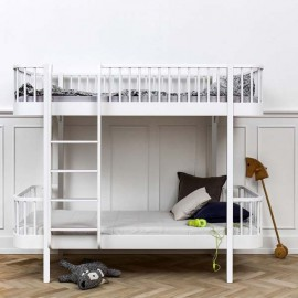 Wood Bunk Bed | White