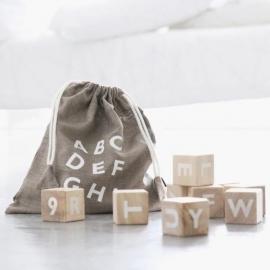 Wood Blocks Alphabet | White