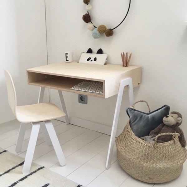 Conjunto escritorio y silla infantil in2wood for Silla escritorio infantil