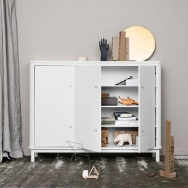 WOOD MULTI CUPBOARD 3 DOORS – WHITE
