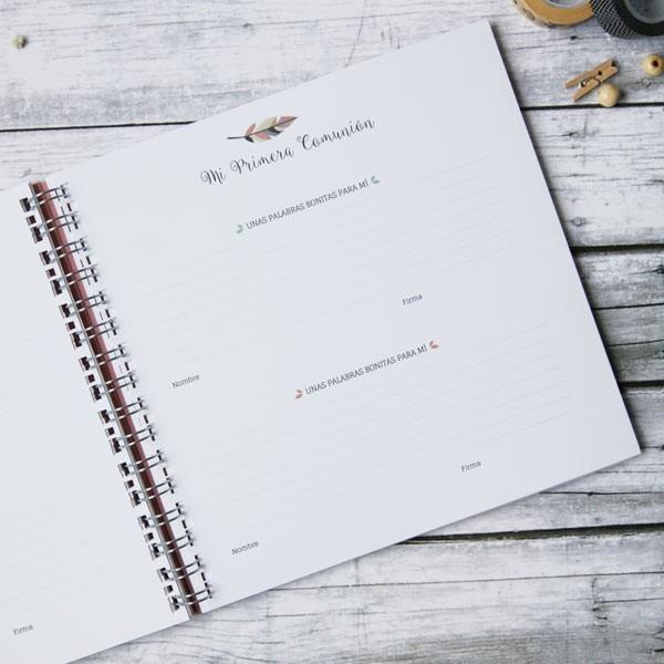 Libro de firmas comuni n regalos para primera comuni n for Interior libro de firmas comunion