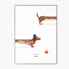 Doug the Dachshund Poster