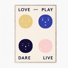 Four Feelings Poster
