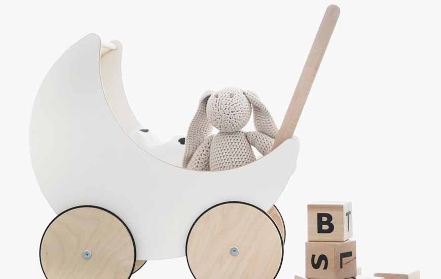 Toy Pram & Dolls Bed