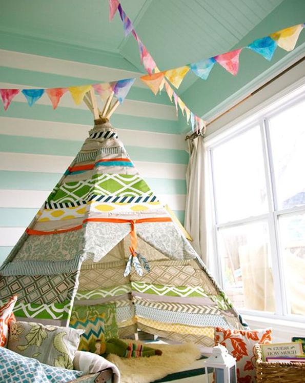 teepee-tipi decoración infantil