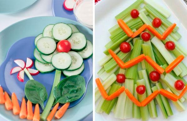 Comer Verduras Niños The Little Club Decoración Infantil