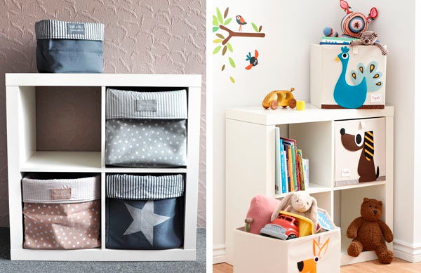 Ideas de decoraci n con el modelo expedit de ikea for Articulos decoracion habitacion bebe
