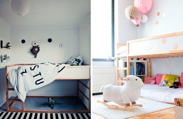 Ideas para personalizar el modelo kura de ikea for Habitaciones infantiles dobles ikea