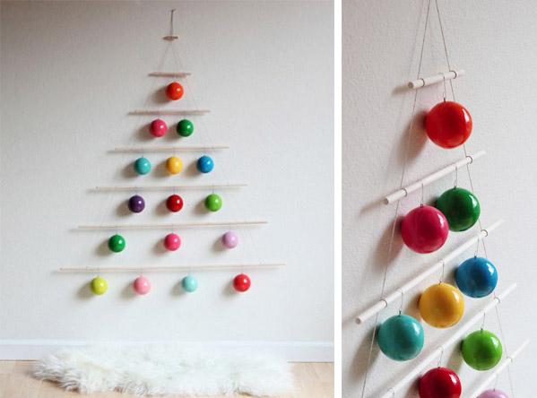 20 ideas originales para que tu rbol de navidad sea el for Como hacer un arbol de navidad original