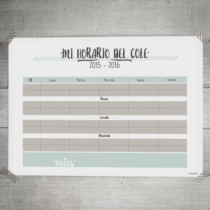 Descarga e imprime esta plantilla de horario escolar para empezar el ...