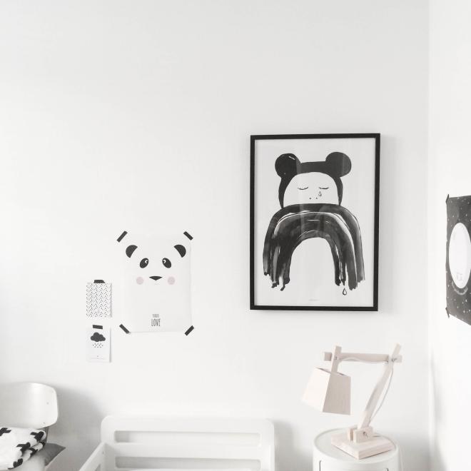 decoración niños blanco y negro