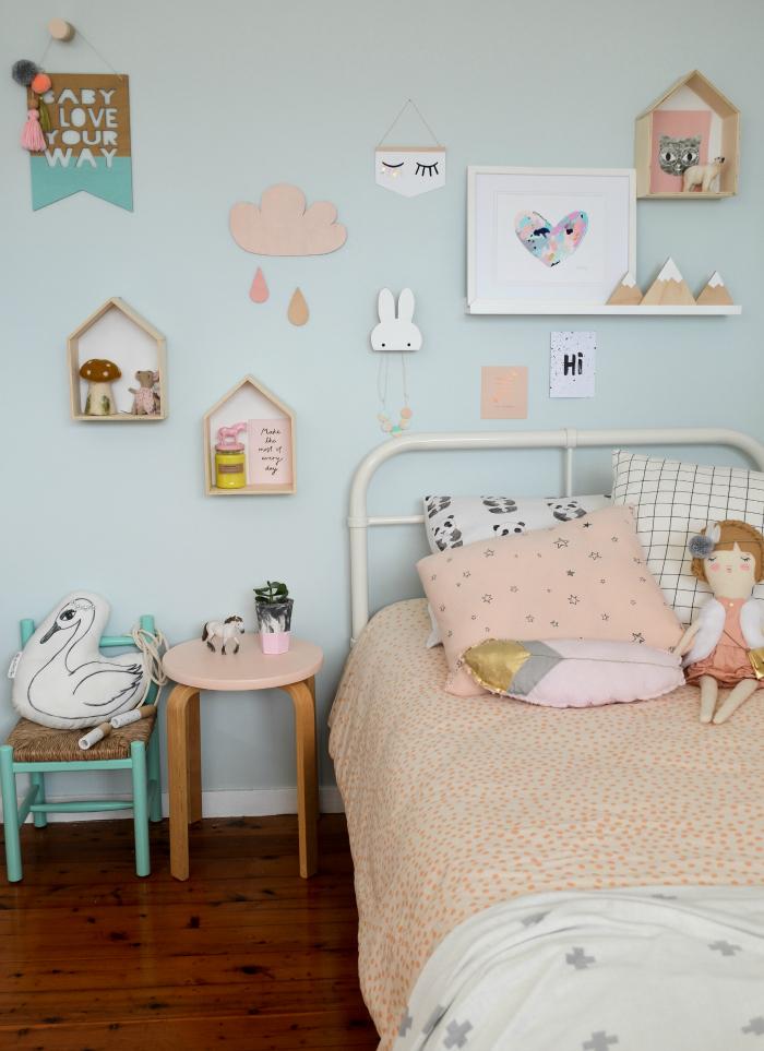 ideas habitación niñas nórdico tonos pastel