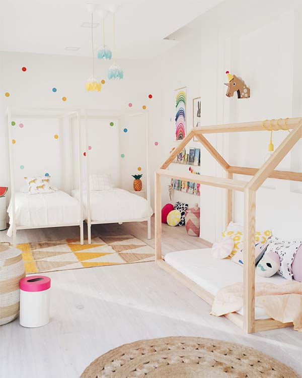 habitacion compartida estilo nordico