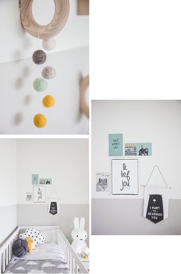 dormitorio infantil blanco y gris 4